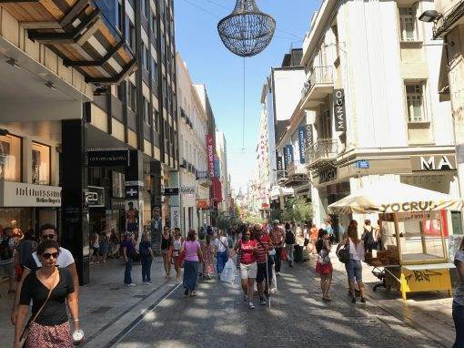 athens shopping street