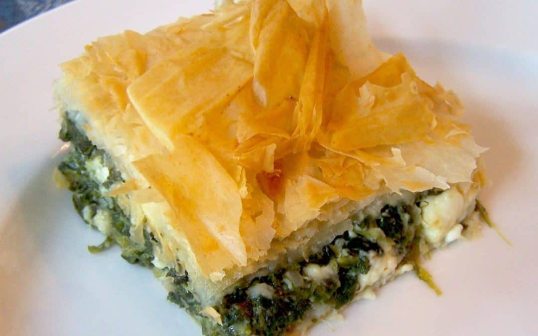 SPANAKOPITA – GREEK SPINACH AND FETA CHEESE PIE RECIPE